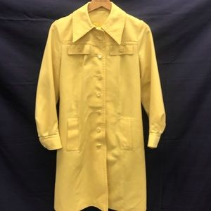 Vintage Butter Yellow Trench